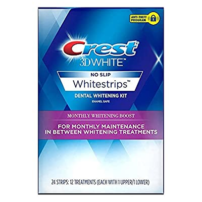 Crest 3D White Monthly Whitening Boost Dental Kit with 12 Treatments