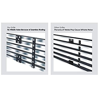 APS Compatible with 02-05 Dodge Ram Stainless Steel Main Upper Billet Grille Insert D65720C: Automotive