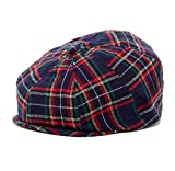Christmas Plaid baby toddler & kids caps (XXS 46 cm 6-12m, navy and green)
