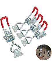 4Pack Latch-Action Toggle Clamp, 4003 Style 660lbs Capacity Heavy Duty Toggle Latch Clamp, Pull Latch Self-lock Toggle Clamp for Machinery, Automobiles, Luggage Lock, Clamping Processing or Assembling