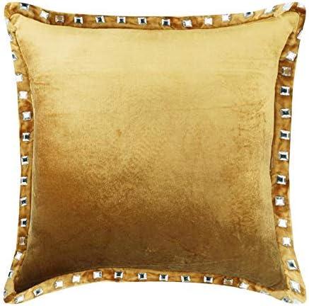 Oro fundas de cojines decorativos, cristales brillante
