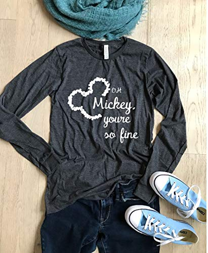 Oh Mickey, You're So Fine. UNISEX FIT. FAST SHIPPING. Disney T Shirt. Disney Long Sleeve Shirt. Disney Trip Shirt. Disney Gift