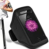N+ INDIA Motorola Moto X Play Adjustable Armband Gym Running Jogging Sports Case Cover Holder With Touch Stylus pen Black