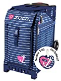 Zuca Anchor My Heart Sport Insert Bag and Navy Blue Frame with Flashing Wheels