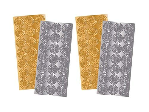 2 Pack of 21 Quality Park Decorative Foil Envelope Seals Gold and Silver ()