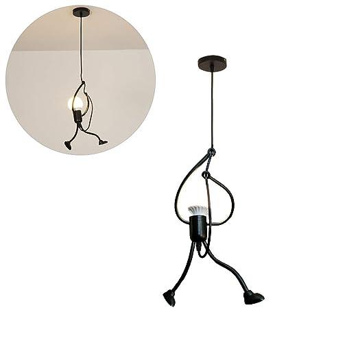 Kylewo Lámpara de Techo LED Vintage - E27 Hierro Diseño de Dibujos Animados para Personas pequeñas Lámpara Colgante para niños Dormitorio Sala de ...