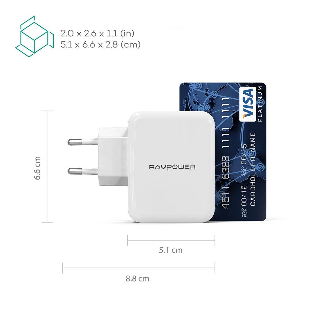 Cargador de pared RAVPower, modelo RP-PC001.: Amazon.es: Electrónica