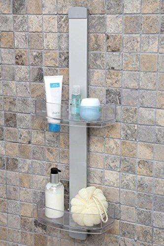 Duschregal, Duschablage aus hochwertigem Aluminium mit zwei Körben. Zum Hängen oder zur Wandmontage. Topp!