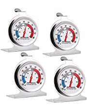 4-Pack Freezer Refrigerator Thermometer, Large Dial Fridge Thermometer Cooler Thermometer for Home, Kitchen, Warehouse, Restaurant, Cold Chain, Supermarket
