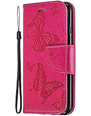 Miagon for Samsung Galaxy S9 Plus Wallet Case Cover,Butterfly Design PU Leather Flip Cover with Card Slots Magnetic Closure Stand Function Folio Protective Book Bumper