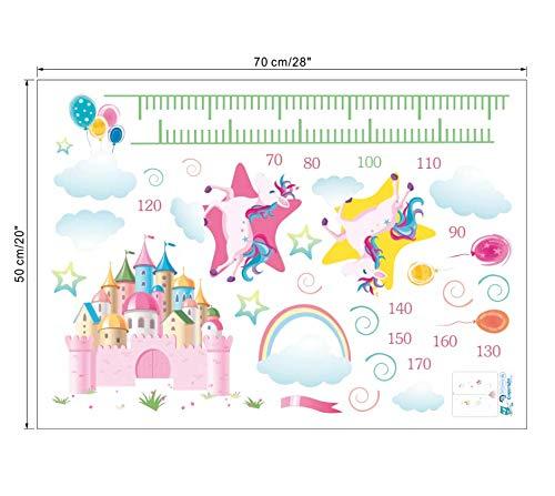 para ni/ños y ni/ñas funkyfun Pegatinas de Pared de Colores con dise/ño de Unicornio y Castillo de Animales de Colores para dormitorios y Habitaciones Infantiles