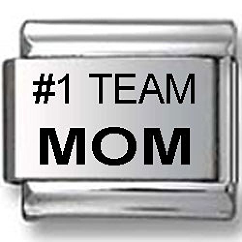 #1 Team Mom Laser Italian charm