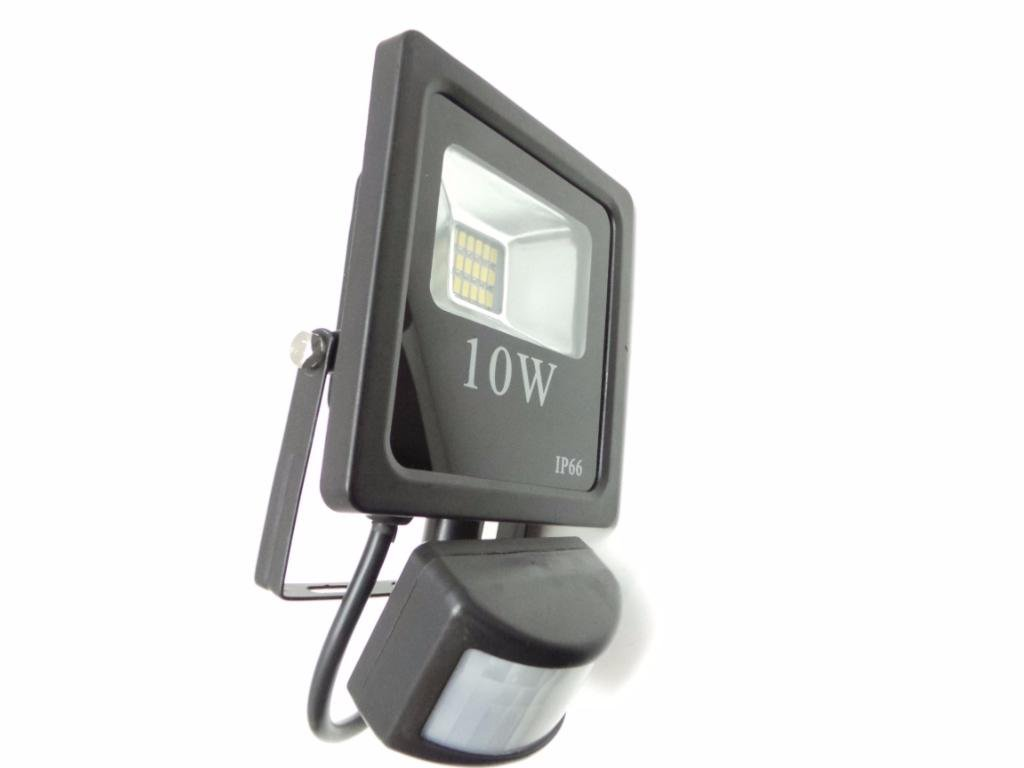 Silamp Proyector LED Faro detector de movimiento crepuscular 10 W ...