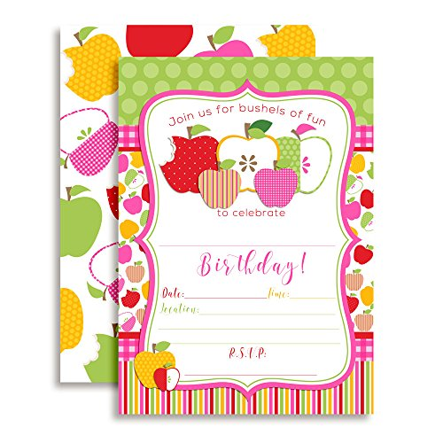 - Bright Apple Birthday Party Invitations, 20 5