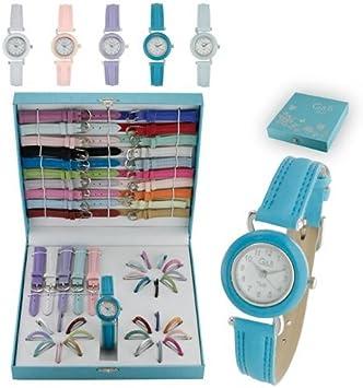 Set reloj mujer G&B con 25 correas y 25 aros RGB 43395: Amazon.es: Electrónica