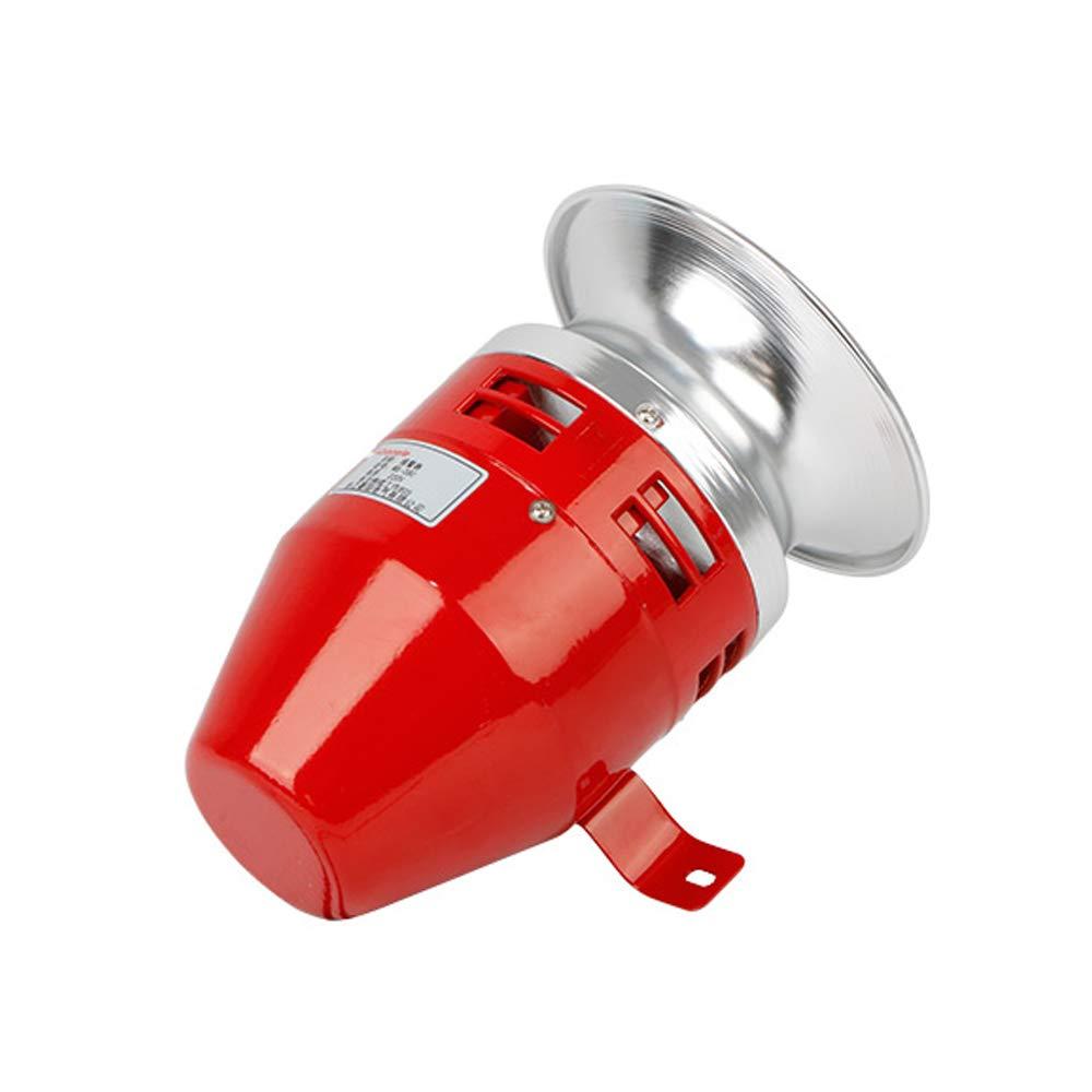 Sir/ène de raid 130 dB en m/étal pour alarme de bateau industriel12 24 V 110 220 V 24V Red