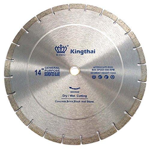 Kingthai 14 inch Segmented Diamond Blade for Concrete Masonry with 1