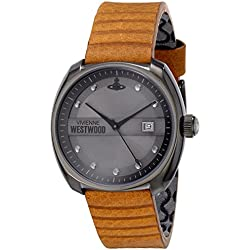 Vivienne Westwood Men's VV080GNTN Bermondsey Analog Display Swiss Quartz Brown Watch