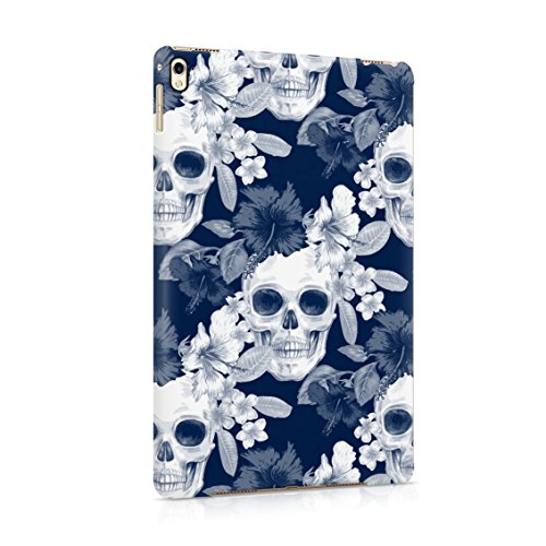 Tropical Floral Pirate Skulls Pattern Indie Hype Hipster Rad Tumblr Plastic Tablet Snap On Back Case Cover Shell For iPad Pro 9.7