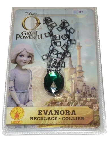 Rubie's Costume Disney's Oz The Great and Powerful Evanora Necklace, Green/Black, One Size 2018