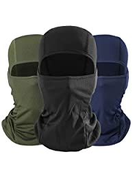 QUhang- Hood Full Face Mask Balaclava for Cycling Motorcycle, Skiing Neck Protect Warmer