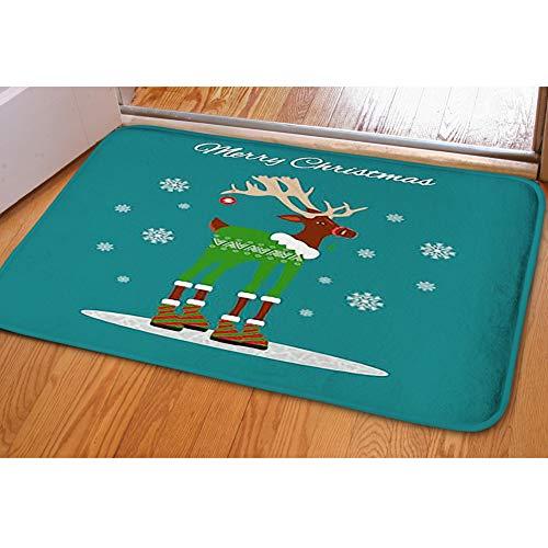 iBathRugs Door Mat Indoor Area Rugs Living Room Carpets Home Decor Rug Bedroom Floor Mats,Happy Christmas Greeting Card Cartoon