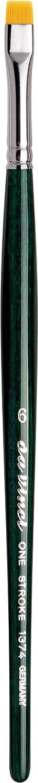 Da Vinci Cepillo 1370 Fibra Series One Stroke, Fibra 1370 sintética, Verde, 24 x 1.58 x 30 cm d036be