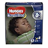 Health & Personal Care : HUGGIES OverNites Diapers, Size 4, 24 ct, JUMBO PACK Overnight Diapers (Packaging May Vary)