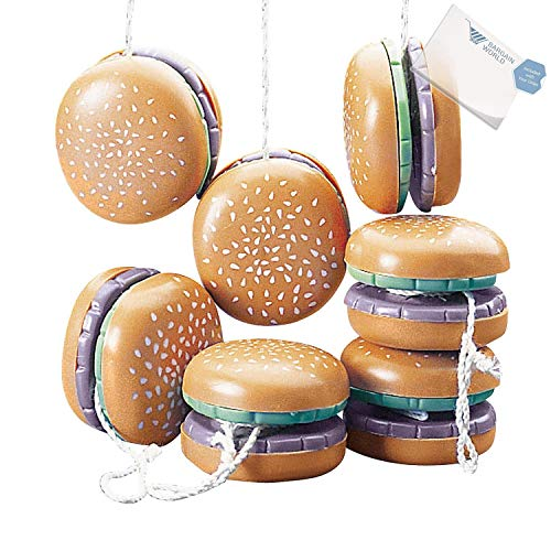 Hamburger Yos Yo (Bargain World Plastic Hamburger Yo-Yos (With Sticky Notes))