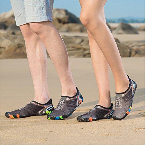Nero Accogliente Donna Luce Spiaggia 1 Beach Estate 47eu Acquatici Scarpe Aqua Surf Per Immersione Da Yoga Sport 34 Scarpette Shoes Uomo Swim OAnRaWn
