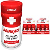 Cheap DrinkAde Prevention (12 Pack/3.4oz Bottles) – Previously Never Too Hungover with Electrolytes, B Vitamins, Milk Thistle, Green Tea Extract – Only 5 Calories.