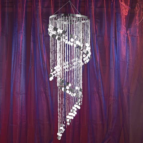 Shimmering Swirl Chandelier Silver Party Supplies Decorations