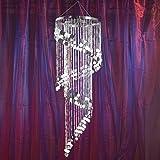 Shimmering Swirl Chandelier Silver For Sale