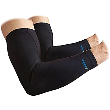 e7eeaeeaf7 Arm Sleeves (1 Pair) Supports and Warmers - Basketball Shooter Sun UV  Cycling Hiking