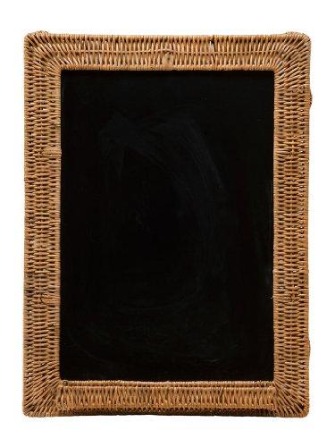 KOUBOO Wicker Framed Black Board, 18 by 24-Inch
