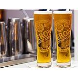 Peroni Signature Italian Beer Glasses 0.4 Liter - Set of 2