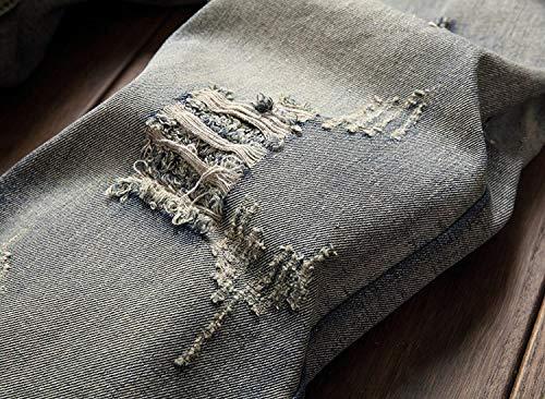 Bobo Strappato Denim Alta Con Elasticizzati Grey Jeans A In Estilo Retro 88 Pantaloni Vita Alta Uomo Especial Skinny Da rTq4rI7nw