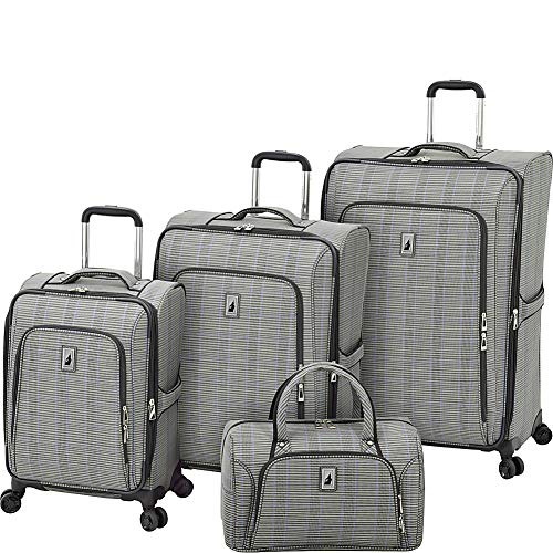 Sets Luggage Plaid (London Fog Knightsbridge II 4 Piece Set, Grey Sapphire Plaid)
