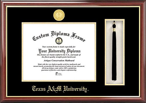 Campus Images Texas A&M University 14w x 11h Tassel Box and Diploma Frame (Lacquer Diploma Frame)
