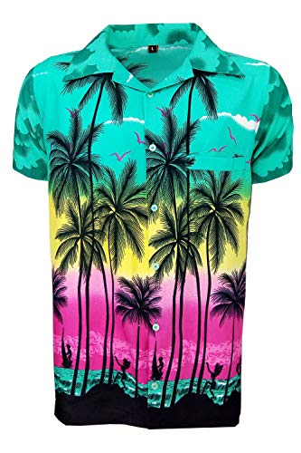 787485e00 SAITARK Mens Hawaiian Shirt Stag Beach Hawaii Aloha Party Summer Holiday  Fancy Palm - Buy Online in Oman. | Clothing Products in Oman - See Prices,  ...