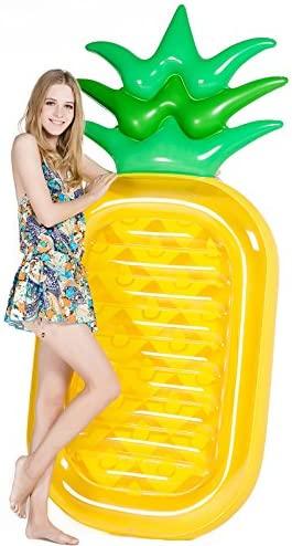 Jasonwell Piña Hinchable colchonetas Piscina Flotador Gigante de Piña Tumbona Flotadora/ Tumbona de Piscina Juguete para Adultos y Niños: Amazon.es: Juguetes y juegos