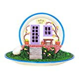New Miniature Mini Dollhouse FAIRY GARDEN Accessories - Coffee Cup House - Battery Powered - Supplies Ac.
