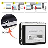 Upgraded Cassette Tape to MP3 Converter,USB Cassette Player Portable Tape to PC/Laptops Via