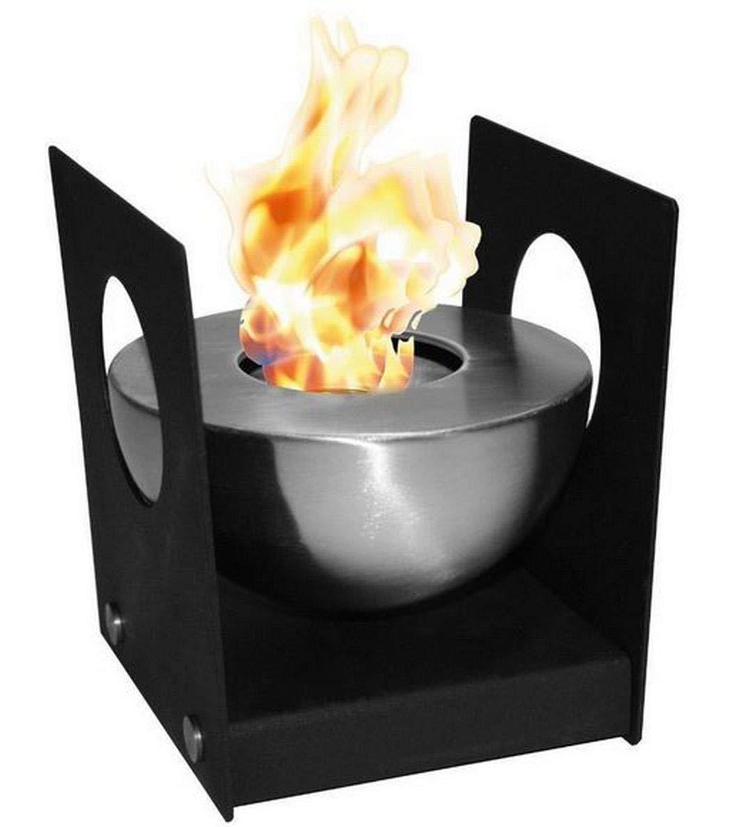 Heissner Tischfeuer Feuerschale Edelstahl fü r Innen und Auß en, oder fü r die Gartenparty, fü r Bioehtanol oder Brenngel