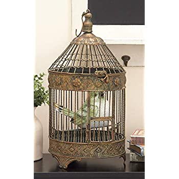 Deco 79 Metal Bird Cage, 24-Inch and 16-Inch, Set of 2