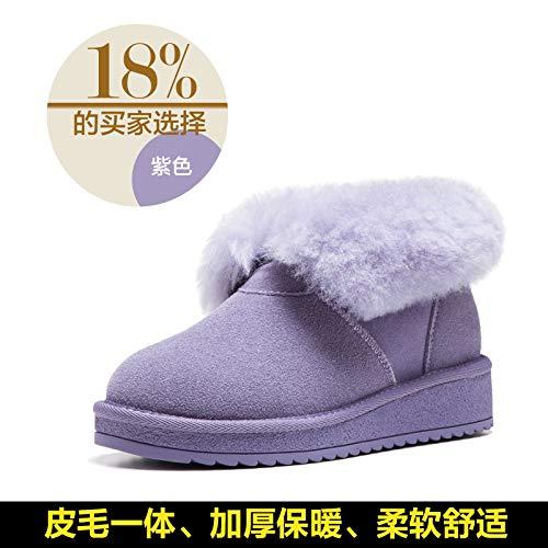 JYSSYLZH Schneestiefel Schneeschuhe Damenstiefel Damenschuhe Dicke Kurze Weibliche Stiefel Herbst Und Winter Frauen Baumwolle Schuhe