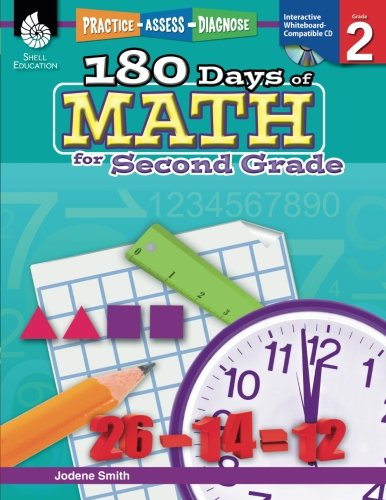180 Days of Math for Second Grade (180 Days of Practice) cover