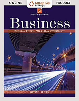 MindTap Business Law for Jennings' Business: Its Legal, Ethical, and Global Environment, 11th Edition