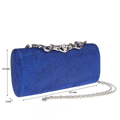 Bleu Puluo pour pour Pochette Bleu femme femme Puluo Puluo Pochette wOqzSxH