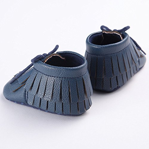 etrack-online Infant Boys Fringe suave soled Mocasín Zapatos de Cuna W Talla:12-18 mes azul